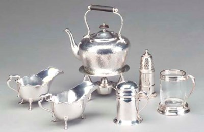 A GROUP OF SILVER AND SILVER P
