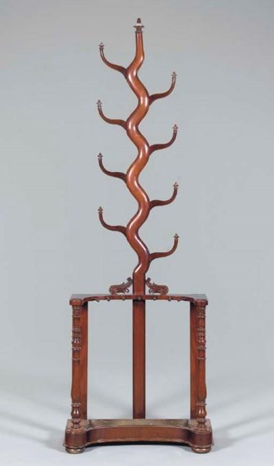 A VICTORIAN MAHOGANY HALL TREE