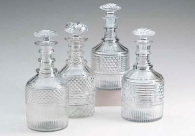 A PAIR OF ANGLO-IRISH GLASS DE