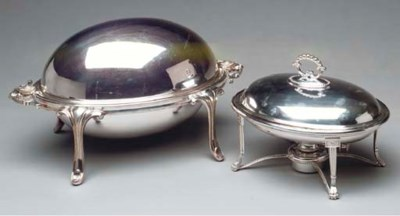 A VICTORIAN SILVER PLATED OVAL