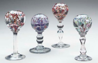 A GROUP OF FOUR VICTORIAN GLAS