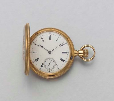 AN 18K GOLD HUNTER CASE KEYLES
