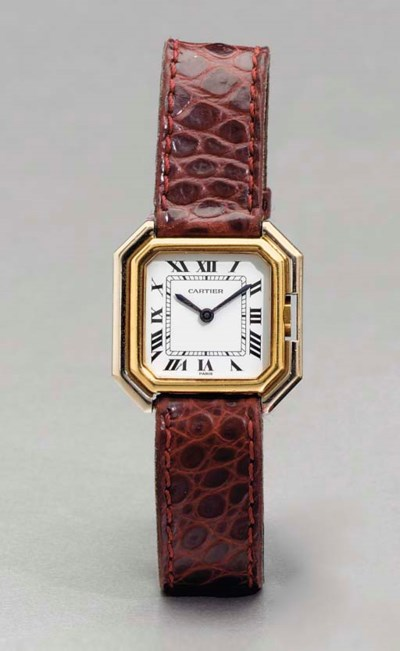 CARTIER. A LADY'S 18K TWO-TONE