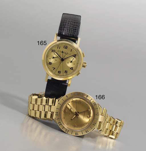 AN 18K GOLD SPLIT SECOND CHRON