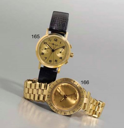 Bulova. An 18K gold water-resi