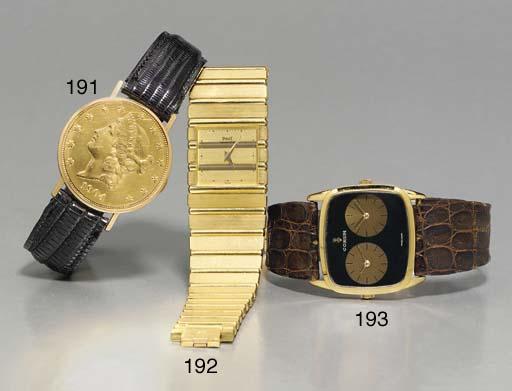 SWISS. AN 18K GOLD US TWENTY D