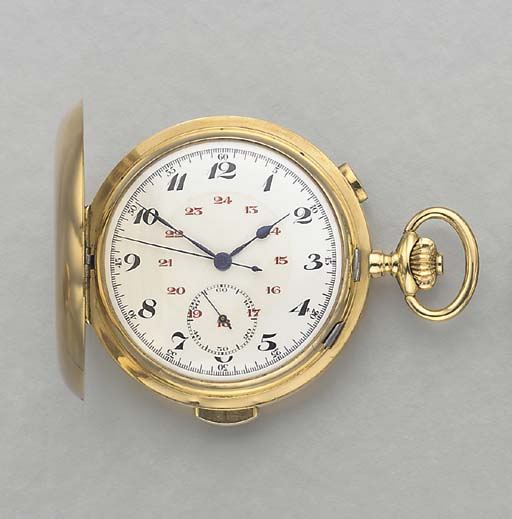 AN 18K GOLD MINUTE REPEATING H