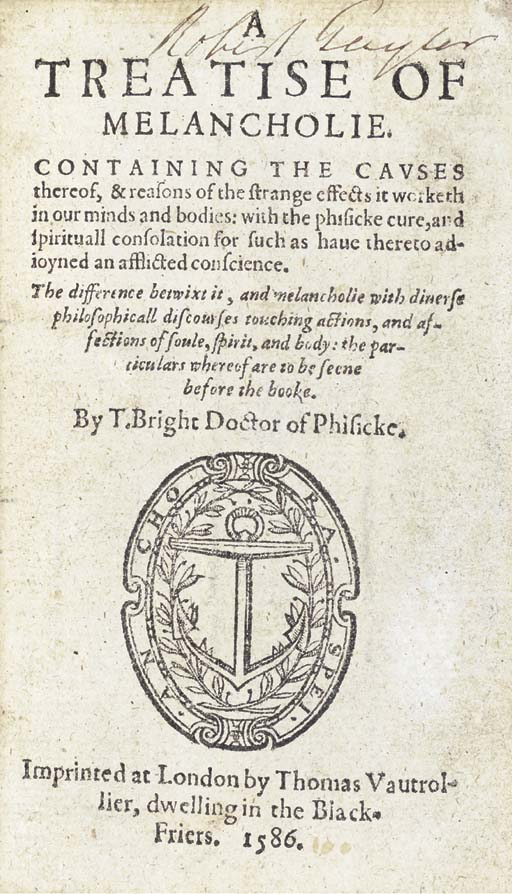 BRIGHT, Timothy (ca 1551-1615)
