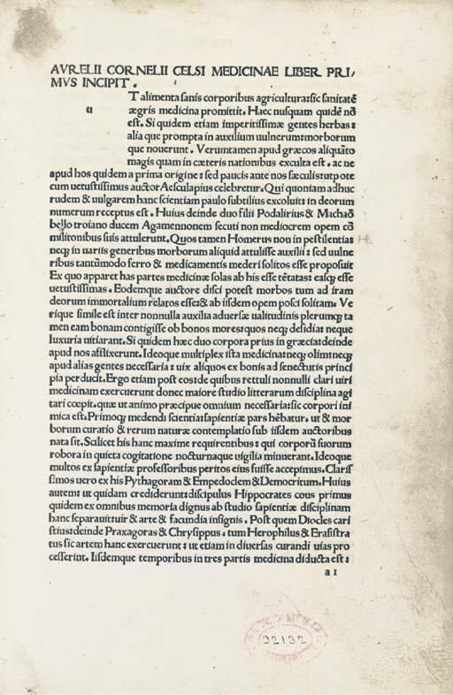 CELSUS, Aulus Cornelius (ca 25