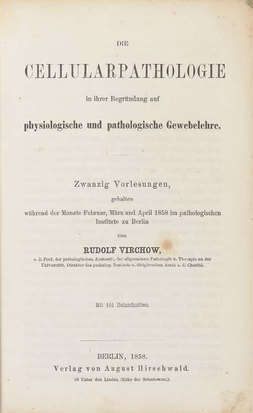 VIRCHOW, Rudolf (1821-1902). D