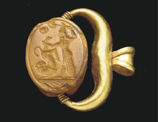 A PHOENICIAN GOLD AND YELLOW J