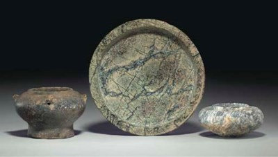 THREE SYRIAN STONE VESSELS