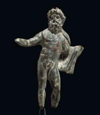 A ROMAN BRONZE GOD