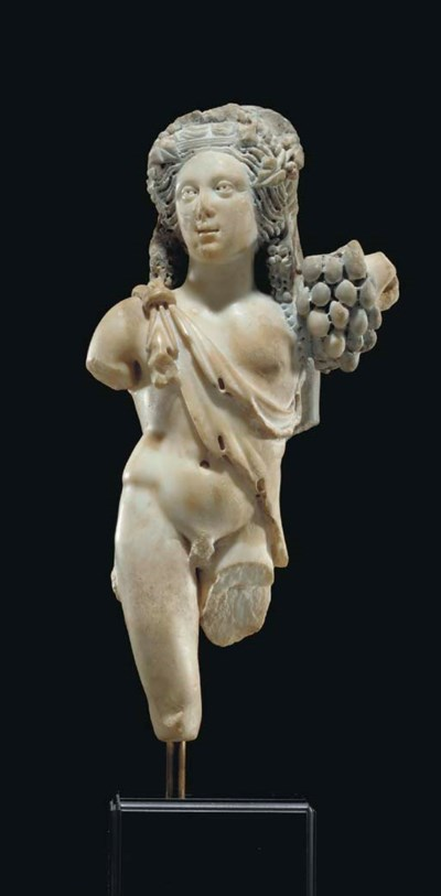 A ROMAN TWO-TONED MARBLE BACCH