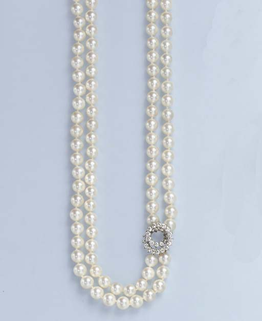 A TWO-STRAND CULTURED PEARL AN