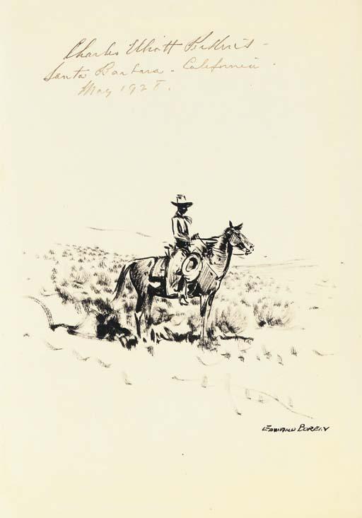 PERKINS, Charles Elliott (1881-1943). The Pinto Horse. Forward by Owen Wister. Santa Barbara, Calif.: Wallace Hebberd, 1927.