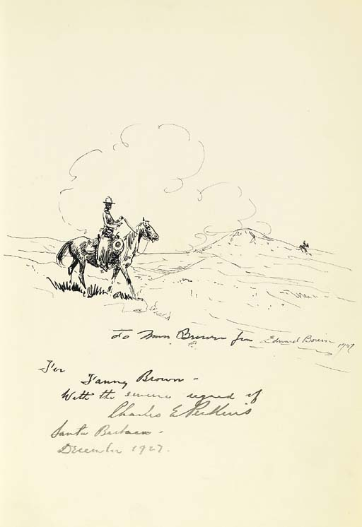 PERKINS, Charles Elliott. The Pinto Horse. Forward by Owen Wister. Santa Barbara, Calif.: Wallace Hebberd, 1927.