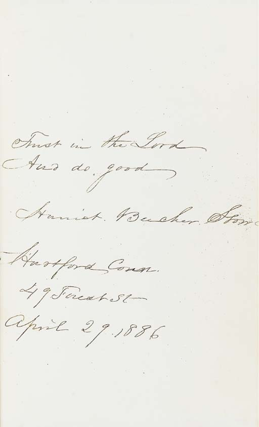 STOWE, Harriet Beecher (1811-1896). Uncle Tom's Cabin; or, Life Among the Lowly. Boston: J. P. Jewett; Cleveland: Jewett, Proctor and Worthington, 1852.