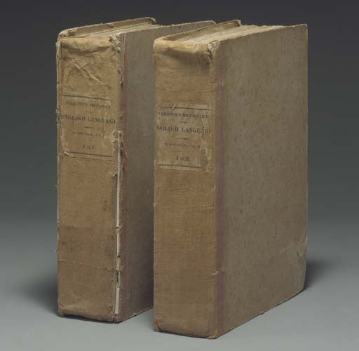 WEBSTER, Noah (1758-1843). An American Dictionary of the English Language. New York: [Hezekiah Howe, New Haven for] S. Converse, 1828.