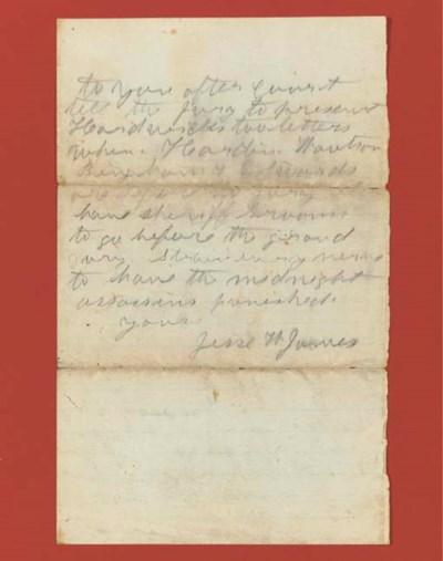 JAMES, Jesse Woodson (1847-188