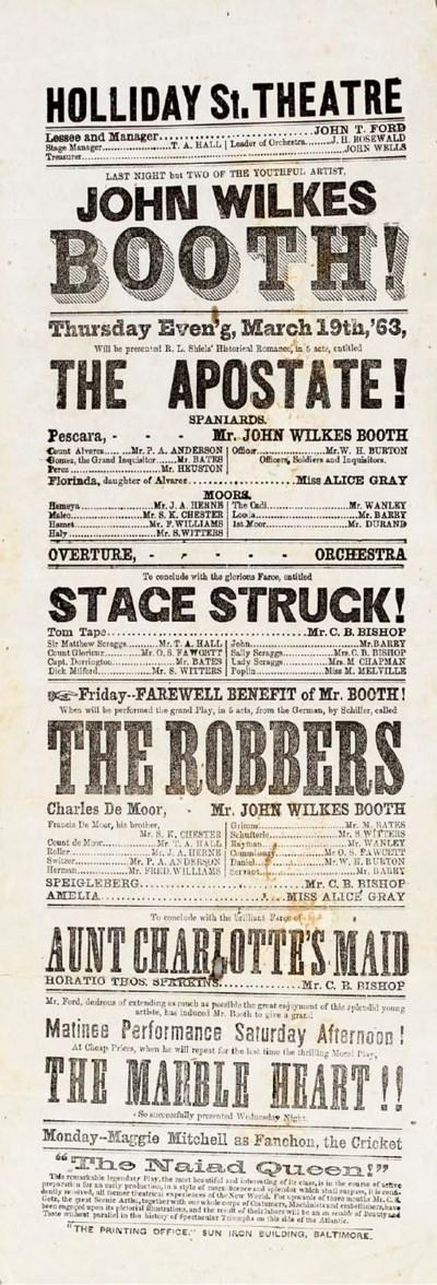 [BOOTH, John Wilkes (1838-1865