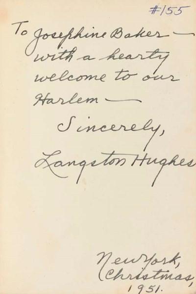 HUGHES, Langston (1902-1967).