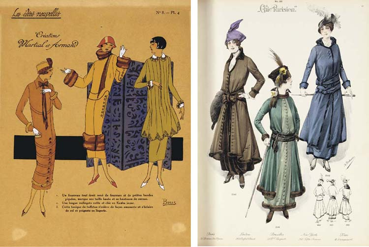 [FASHION]. Chic Parisien. Volumes. 9-17. Paris: Nov. 1906-Sep. 1915. 9 volumes. 2o, numerous colored plates and illustrations in text. 20th-century cloth and marbled boards, some original wrappers bound in.