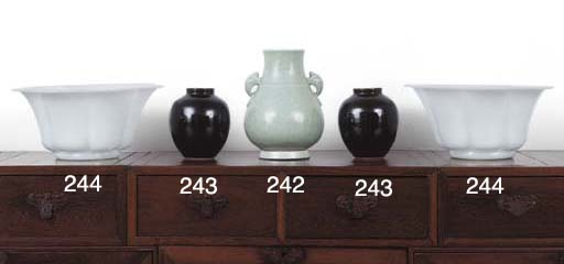 A PAIR OF SMALL CHINESE BLACK-