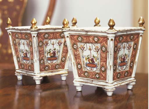 A PAIR OF FRENCH PORCELAIN BOU