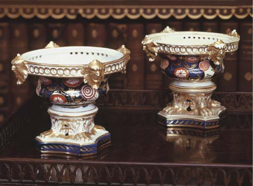 TWO DERBY IMARI PORCELAIN SMAL