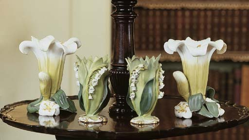 TWO PAIR OF ENGLISH PORCELAIN