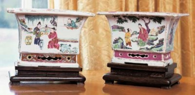 TWO CHINESE PORCELAIN JARDINIE