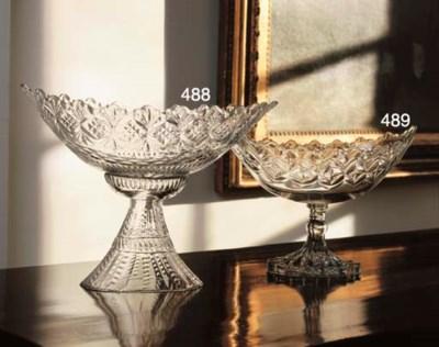 A CUT-GLASS CENTERPIECE BOWL A
