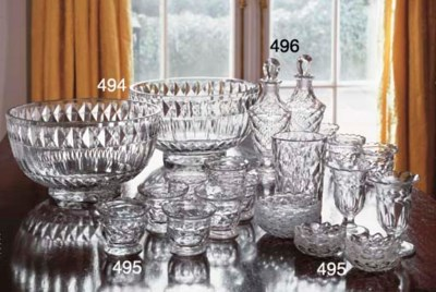 A PAIR OF CUT-GLASS BOWLS