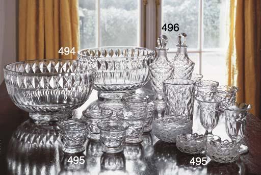 TWELVE CUT-GLASS BOWLS