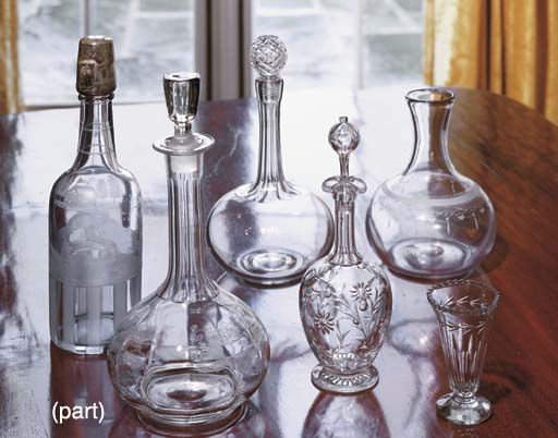 AN ASSORTMENT OF DECANTERS, CA