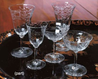 A CONTINENTAL GLASS PART STEMA