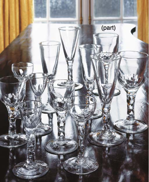 A GLASS PART STEMWARE SERVICE
