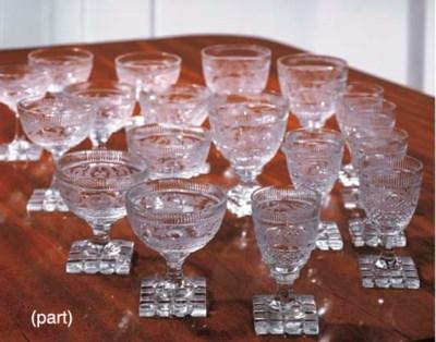 A CONTINENTAL CUT-GLASS PART S
