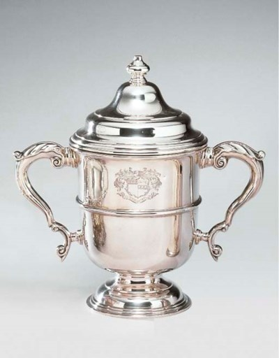 A GEORGE VI SILVER CUP AND COV