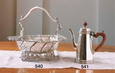 A GEORGE V SILVER COFFEE POT