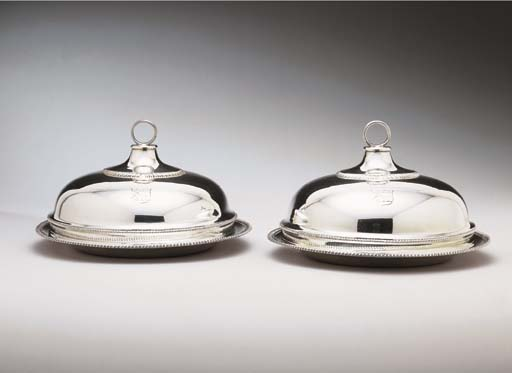 A PAIR OF GEORGE III SILVER SE