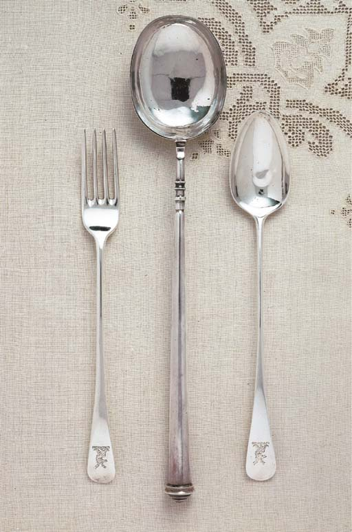 A QUEEN ANNE SILVER BASTING SP