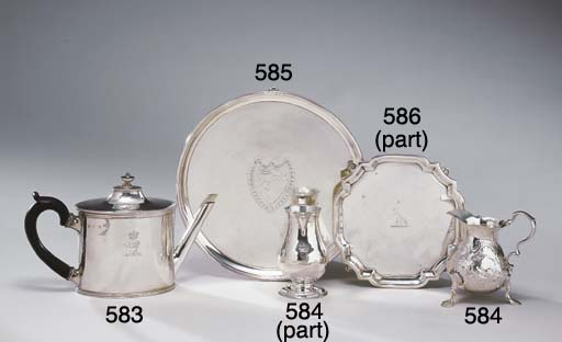 A GROUP OF GEORGIAN SILVER CRE