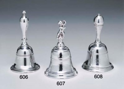 A GEORGE I SILVER TABLE BELL