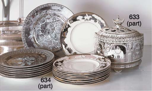 TWO ENGLISH EARTHENWARE SILVER