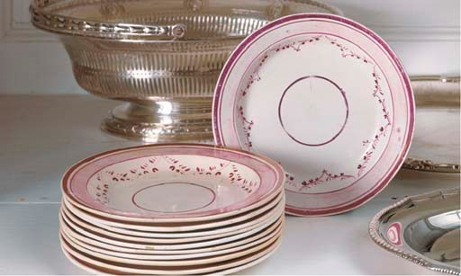 A SET OF ELEVEN STAFFORDSHIRE
