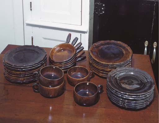 A FRENCH POTTERY PART DINNER S
