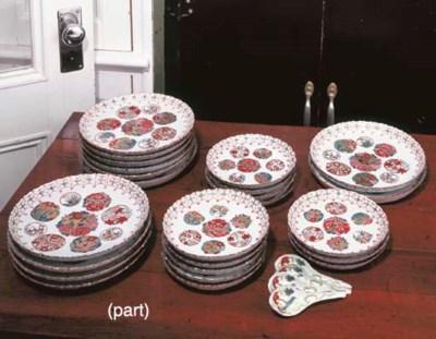 A JAPANESE PORCELAIN PART DINN