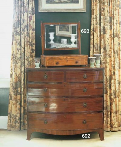 A GEORGE IV INLAID ROSEWOOD DR